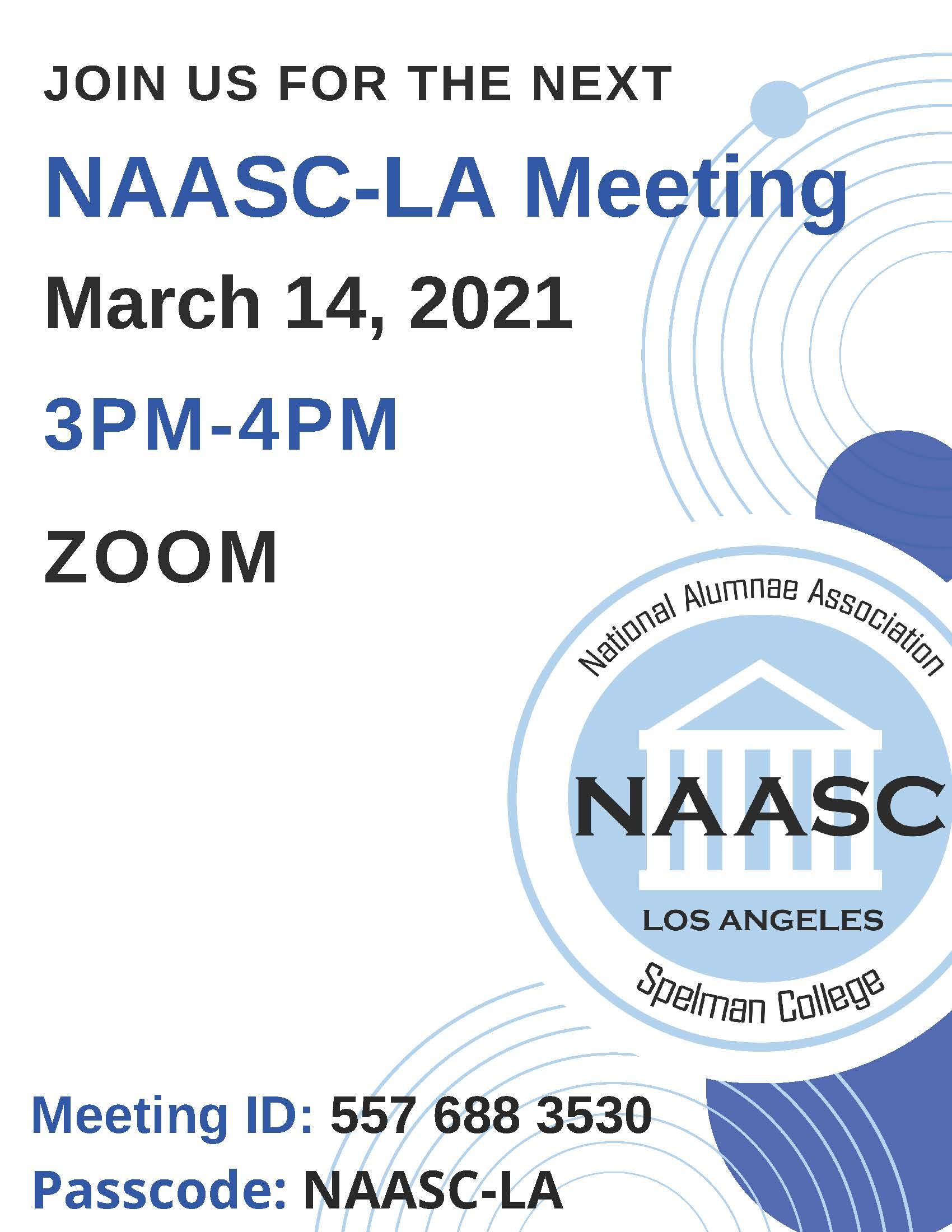 Feb 2021 Zoom Meeting Details Here